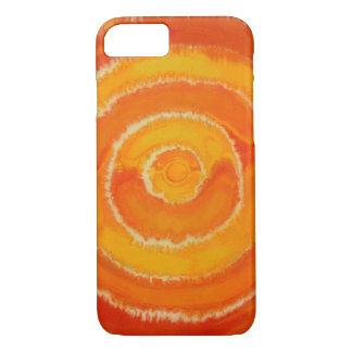 2nd-Sacral Chakra - Orange Mixed Media #1 iPhone 7 Case
