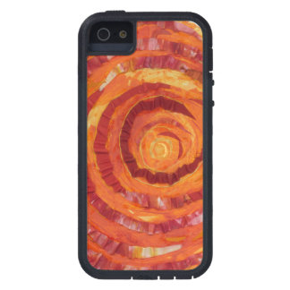 2nd-Sacral Chakra - Orange Paint-Fabric #2 iPhone 5 Cases