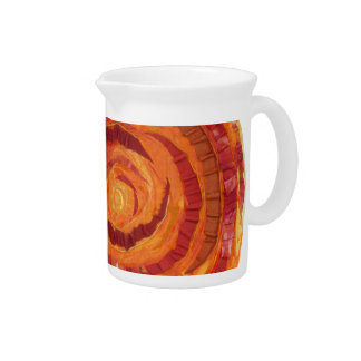 2nd-Sacral Chakra - Orange Paint-Fabric #2 Pitcher