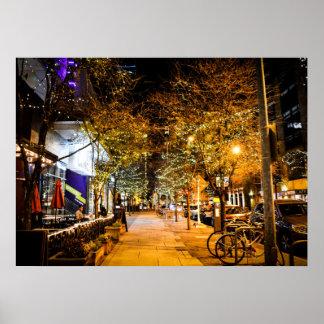 2nd Street Downtown City Lights Poster