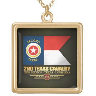 2nd Texas Cavalry Gold Plated Necklace