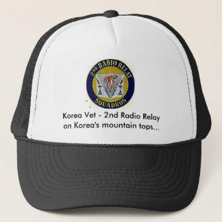 2ndrremblem thru paint, Korea Vet - 2nd Radio R... Trucker Hat