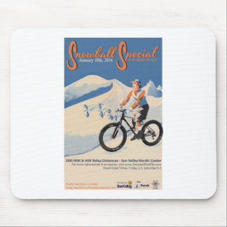 2SNOWBALL SPECIAL FB RACE MOUSE PAD