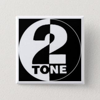 2tone 15 cm square badge