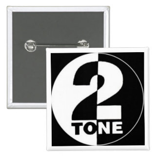 2tone 15 cm square badge