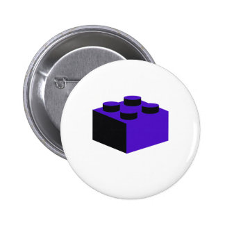 2x2 Brick by Customize My Minifig Pinback Button
