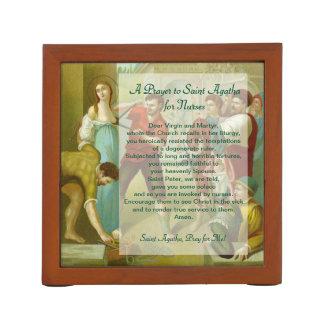2x St. Agatha (M 003) with Prayer for Nurses Desk Organiser