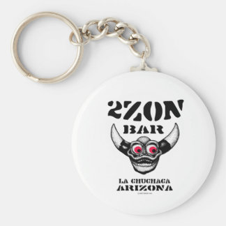 2Zon Bar Basic Round Button Key Ring