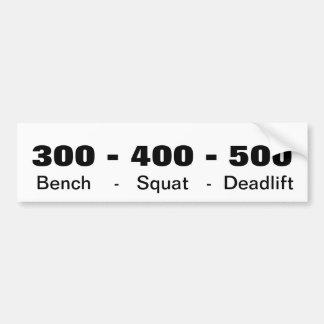 300-400-500 BUMPER STICKER