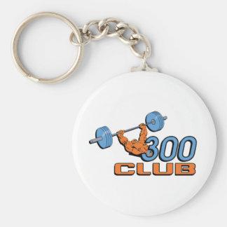 300 Club Basic Round Button Key Ring
