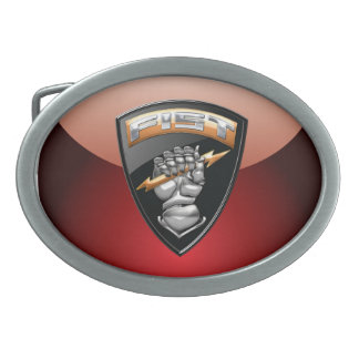 [300] Forward Observer (FIST) [Emblem] Oval Belt Buckles