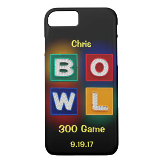 300 Game, B O W L neon graphic with name iPhone 8/7 Case
