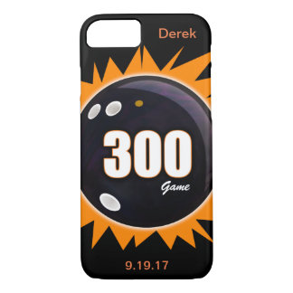 300 Game Orange & Black with name and date iPhone 8/7 Case