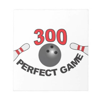 300 perfect game b notepad