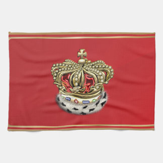 [300] Prince [King] Royal Crown [Fur+Gold][Red] Tea Towel