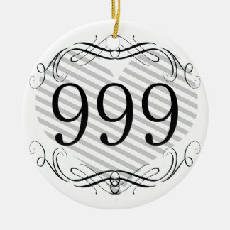 301 Area Code Christmas Ornament