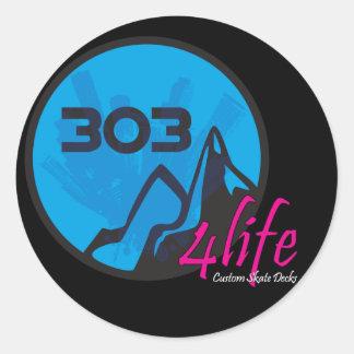 303 4Life Sticker Round