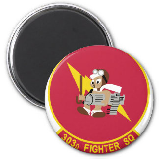 303 FIGHTER SQUADRON (AFRC) 6 CM ROUND MAGNET