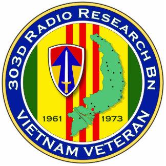 303d RR Bn 2 - ASA Vietnam Standing Photo Sculpture
