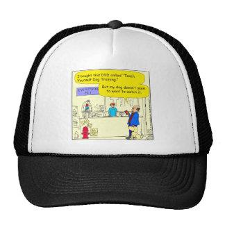 308 teach yourself pet cartoon trucker hat