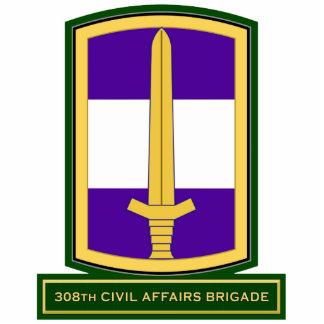 308th Civil Affairs Brigade SSI Photo Sculptures