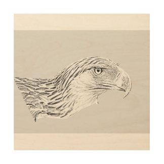 """30.5 cm x 30.5 cm (12"""" x 12"""") Wood Wall Art Eagle"""