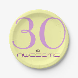 30 and Awesome | Paper Plate