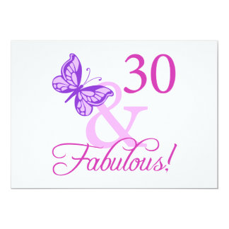 30 And Fabulous Birthday Gifts (Plum) Invite