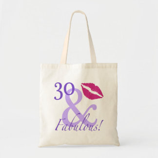 30 And Fabulous Budget Tote Bag