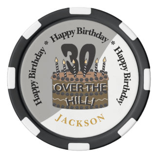 30 and Over The Hill Party Theme Poker Chips