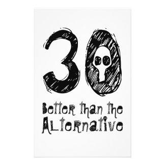 30 Better Than Alternative 30th Funny Birthday Q30 Flyer
