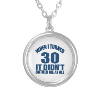 30 Birthday Designs Silver Plated Necklace