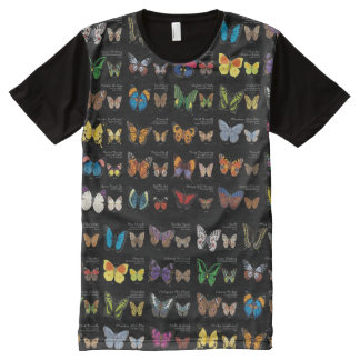 30 Butterfly Species from Around the World All-Over Print T-Shirt