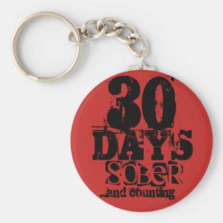 30 Days Sobriety Key Ring