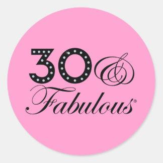 30 & Fabulous Gift Round Sticker