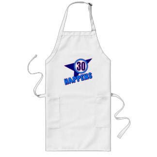 30 Happens 30th Birthday Gifts Long Apron