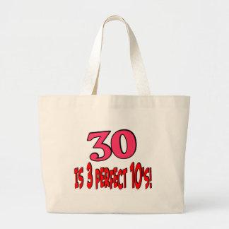 30 is 3 perfect 10s jumbo tote bag