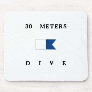 30 Meters Alpha Dive Flag Mouse Pad