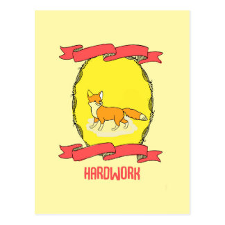 30% OFF SALE fox hardwork  home decoration Postcard