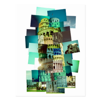 30 shots OF Pisa (white background) Postcard