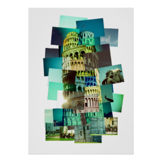 30 shots OF Pisa (white background) Poster