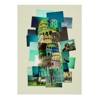 30 shots OF Pisa (yellow background) Poster
