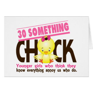 30-Something Chick 3 Greeting Card