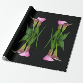 """30"""" x 6' Calla Lily Wrapping Paper Roll"""