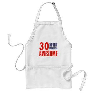 30 year  birthday designs aprons