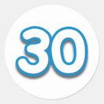 30 Year Birthday or Anniversary - Add Text Round Sticker