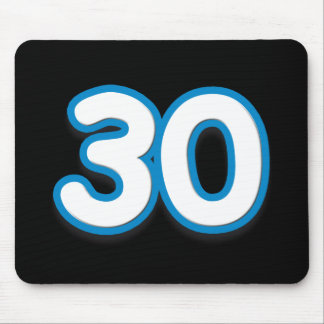 30 Year Birthday or Anniversary Sim Font Mousepad