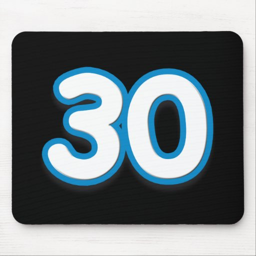 30 Year Birthday or Anniversary Sim Font Mousepad
