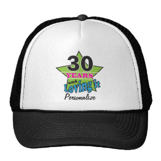 30 Years and Loving it | 30th Birthday DIY Name Cap