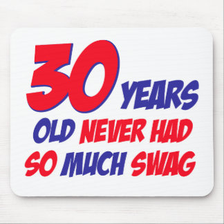 30 years old birthday design mousepad